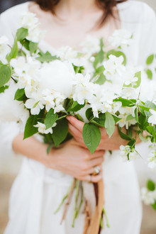 Delicate white bridal bouquet