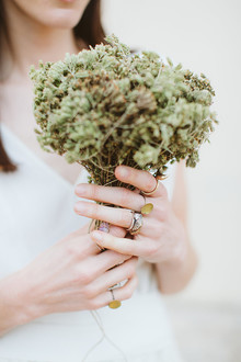 dried oregano bouquet in Italy