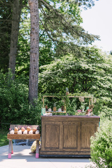 Bar for bridal shower