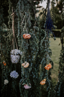 floral installation for wedding