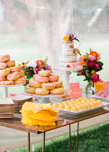 colorful dessert display