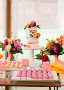 colorful wedding desserts