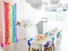 Rainbow care bear birthday party