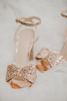 rose gold bridal shoes