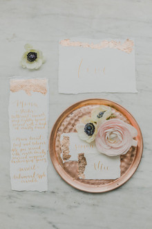 copper wedding details