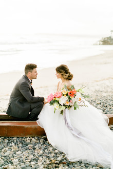 Seaside wedding portraits