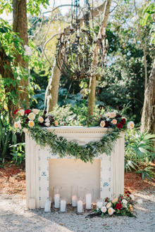 fireplace ceremony decor