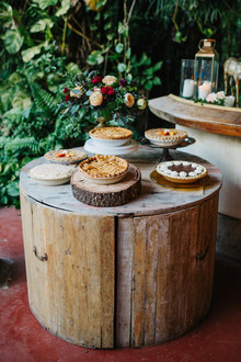 pie table for wedding