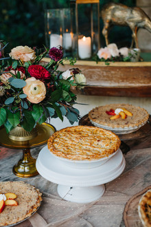 wedding pie table