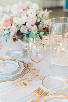 blush and gold tabletop inspiration