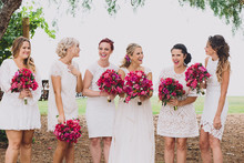 bougainvillea bridesmaid bouquets