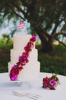 fiesta inspired wedding cake