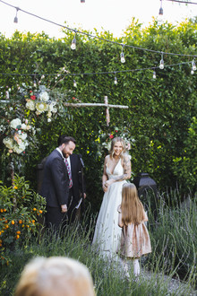 rock and roll backyard wedding