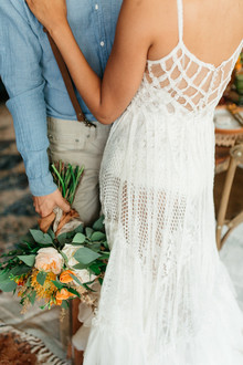 Spanish lace macrame wedding dress