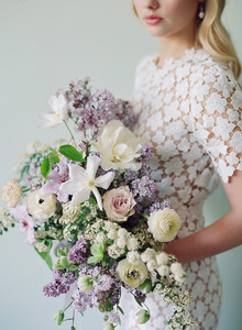 Lilac spring bridal bouquet