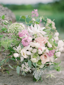 Pastel garden wedding bouquet