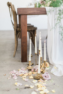 Romantic taper candles for wedding decor
