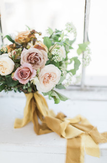 vintage rose wedding bouquet