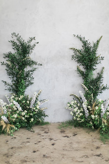 greenery ceremony decor