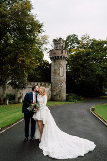 Fashionable Irish castle wedding