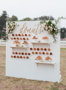 donut display for wedding