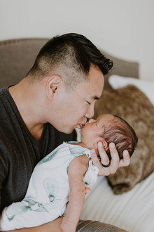 Father son newborn photos
