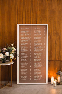 Simple, sophisticated escort card display