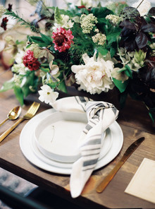 Minimal fall at-home wedding ideas