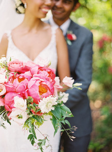 Romantic multicultural San Francisco garden wedding