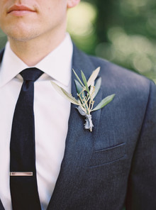 Olive branch boutonniere
