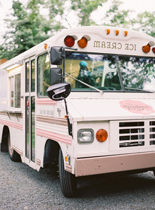pink ice cream truck for wedding