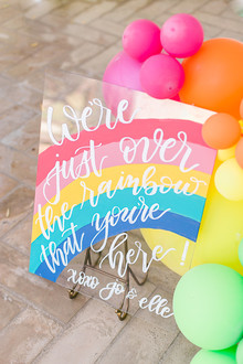 Rainbow balloons for a rainbow birthday party