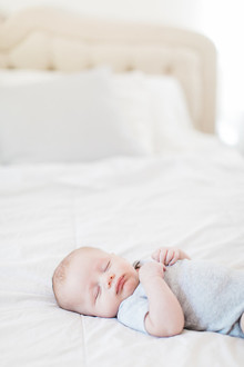 Natural light at home newborn photos