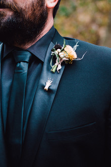 All black groom's suit