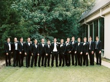 large wedding party / groomsmen