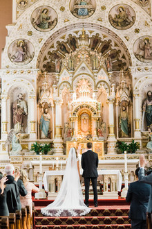 Classic Chicago wedding ceremony at St. Michael's Church