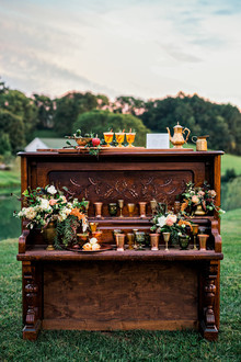 vintage piano for event bar