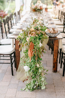 lush fall table garland