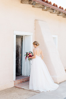 Colorful wedding at the Santa Barbara Historical Museum