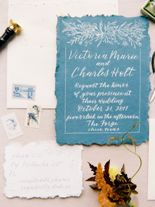 Elegant fall wedding invitations by Leyco Lettering