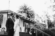 modern macrame backyard wedding in Oceanside