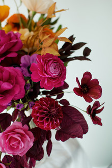ombre fall paper flower bouquet