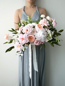 pink paper flower bouquet