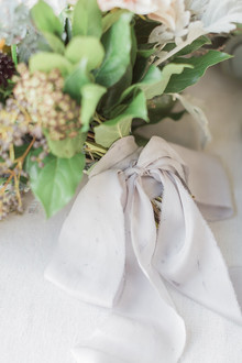 Ideas for dyed silk ribbon in weddings