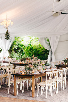 Floral garden tented wedding