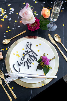 Black and Gold New Years Eve Party Inspiration