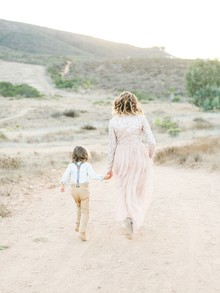 Rustic sparkle holiday family photos in San Diego