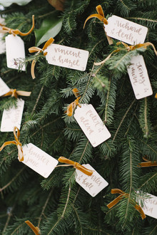 Christmas tree escort cards