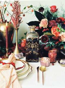 Jewel-tone festive holiday party ideas