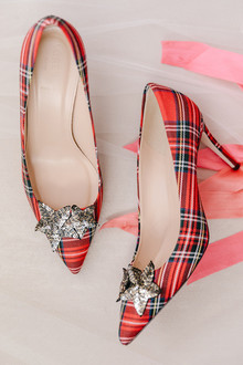 Christmas wedding shoes